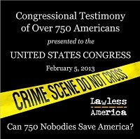 Lawless America Show with William M. Windsor - Sunday February 10, 2013 from 10-midnight Eastern Time