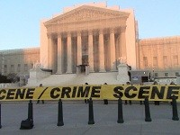 United States Supreme Court marked off with Crime Scene Tape