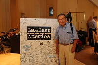 Bill Windsor of Lawless America...The Movie is alive and Roomless at the Hilton LAX in Los Angeles - Day 107